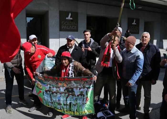 """الجهوية24 بالصور..""""الظلمي"""" وجماهير مغربية بطورينو لتشجيع الأسود"""