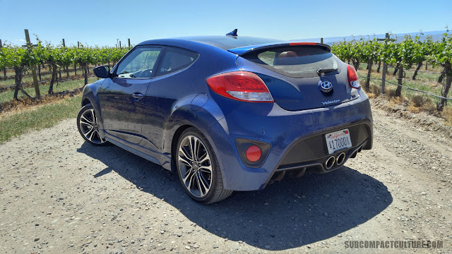 2016 Hyundai Veloster Turbo R Spec in a vineyard rear