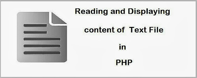 Reading and Displaying Content of Text File in PHP
