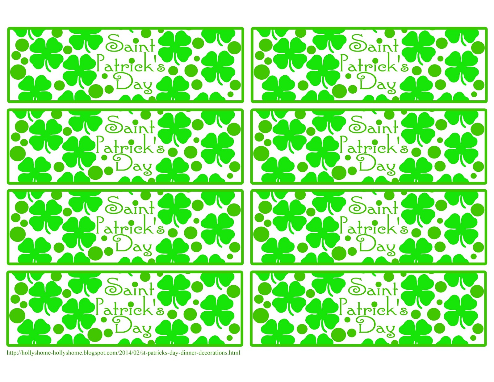 photo about St Patrick's Day Cards Free Printable identified as HollysHome Family members Lifestyle: St. Patricks Working day Evening meal Totally free