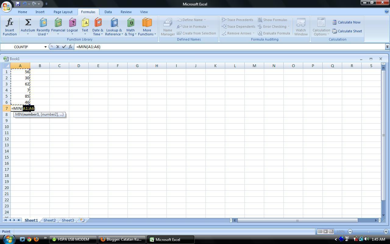 Jumlah Worksheet Excel