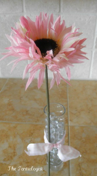 Single Flower Filled Vase  The Partiologist