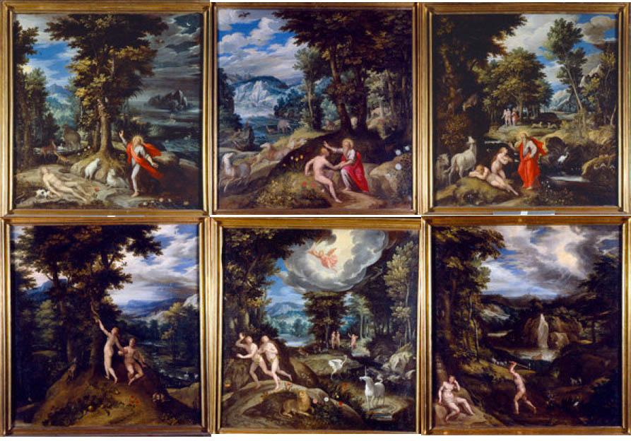 debat art figuration: Le paradis terrestre illustré par Maerten de Vos