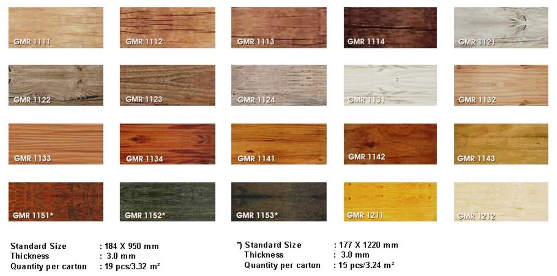 Robby Vinyl Gaiamaru Vinyl Plank Ukuran 91 Cm X 18 Cm X 3 Mm