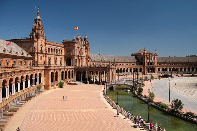 vista panoramica di Plaza de España, siviglia