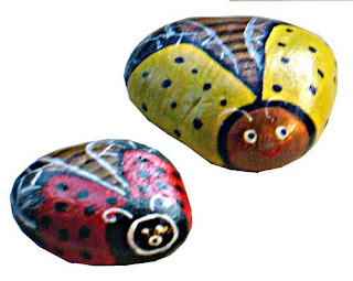 bugs, flying, painted rocks, rock painting