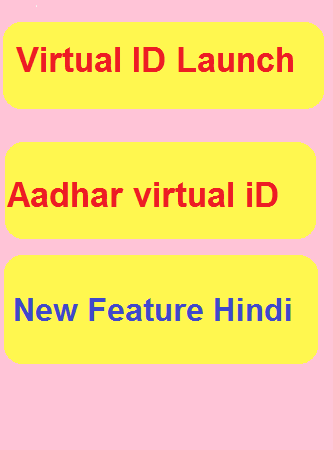 Aadhar ki security strong, virtual ID feature launch hindi
