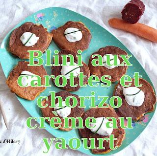 http://danslacuisinedhilary.blogspot.fr/2017/06/blinis-carottes-chorizo-creme-yaourt.html