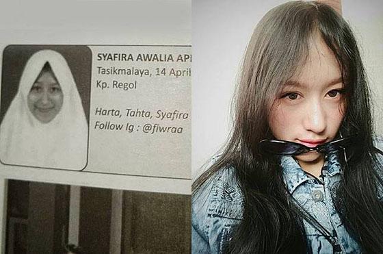 Foto: Syafira Awalia Apriliani, Cewek Cantik Yang Viral Karena Buku Alumni