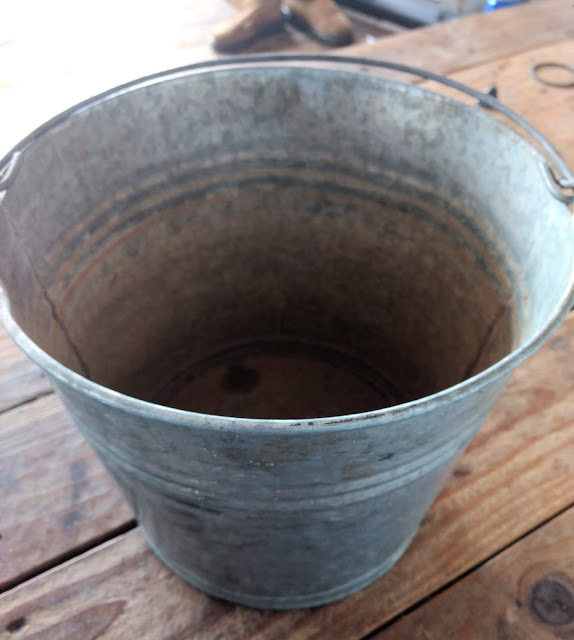 Galvanized Bucket from the Thrift Store