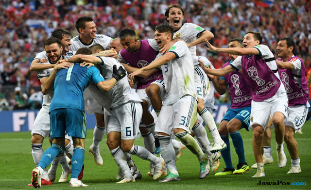 Luar Biasa! Rusia Singkirkan Spanyol Lewat Drama Adu Penalti