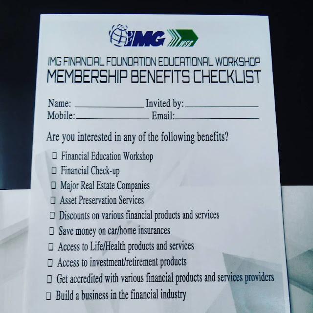 IMG's Membership Benefits Checklist