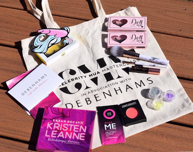goody bag at Celebrity MUA Masterclass
