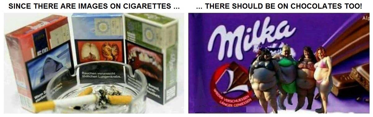 Diabetes chocolates cigarettes