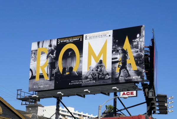 Roma Golden Globe nominee billboard