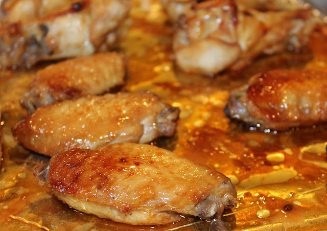 Cooked Chinese chicken wings