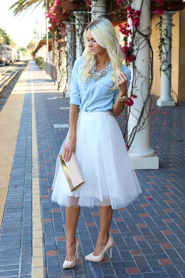 3a5986afd0b29 Wearing It Well - Bailey 44 Tulle Midi Skirt in 4 Colors #anthrofave