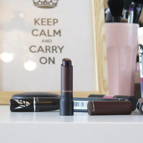 MAC Liptensity lipstick burnt violet lūpų dažai