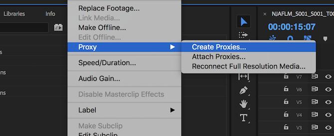 Proxy > Create Proxies