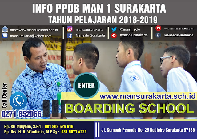 FORMULIR PENDAFTARAN  BOARDING SCHOOL