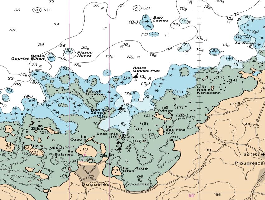 lire une carte marine repérer les coins de pêche sur carte marine