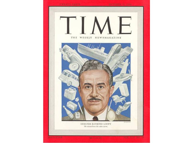 Raymond Loewy on TIME magazine