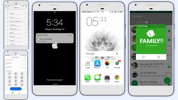 Tema iPhone untuk Oppo (ColorOS & iOS) Tembus Akar - ios white