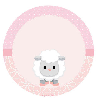 Baby Lamb in Pink Toppers or Free Printable Candy Bar Labels.