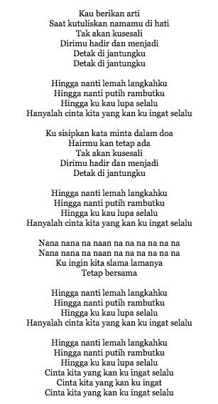 Lirik Lagu Andien Feat Vidi Aldiano Hingga Nanti
