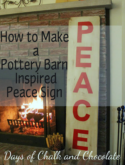 How To Make A Pottery Barn Inspired Peace Sign Days Of
