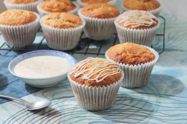 Food Lust People Love: Banana muffins are always good, especially when your bananas are sweet and ripe but switch out the oil or butter for browned butter and try my browned butter banana muffins with browned butter glaze. You'll never want them any other way.  Can you leave off the browned butter glaze? You could, of course, but WHY? I am not a big sweet eater but I do have a weakness for all things caramel. I'm here to tell you though that browned butter lends that same almost smoky flavor to all things, both sweet and savory. Seriously. I couldn't stop eating the glaze and it's just about pure sugar. So good!