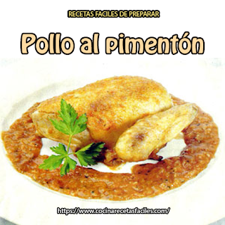Una deliciosa y sencilla receta de pollo al pimentón, disfruta todo el aroma y sabor de este rico plato fácil de elaborar.