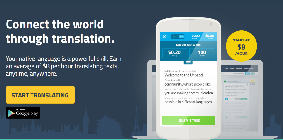 Make profit by translate texts with Unbabel