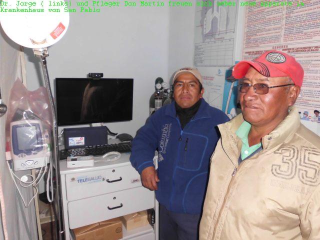 Neue Apparate im Krankenhaus von San Pablo