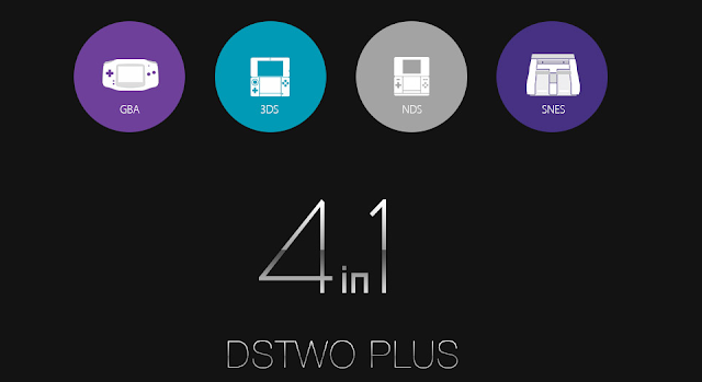 SuperCard DSTWO PLUS 4 in 1 Flashcart for 3DS/NDS/SFC/GBA Games