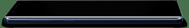 Note 9 e o seu encrã infinito ocupa toda a área frontal do smartphone.