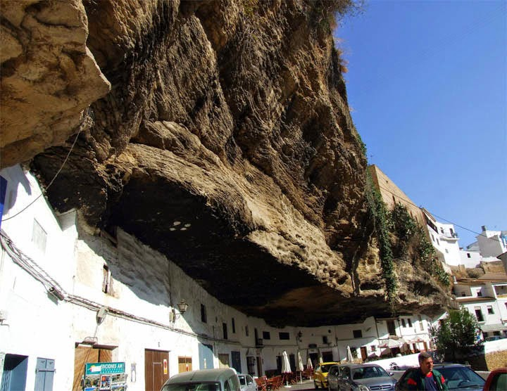 The rock covering is actually a gorge that has been slowly eroded by the Rio Trejo over the centuries. - The People In This Spanish Town Are Literally Living Under A Rock.