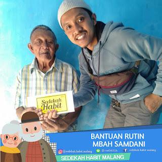 Mbah Samdani : Bantuan Rutin