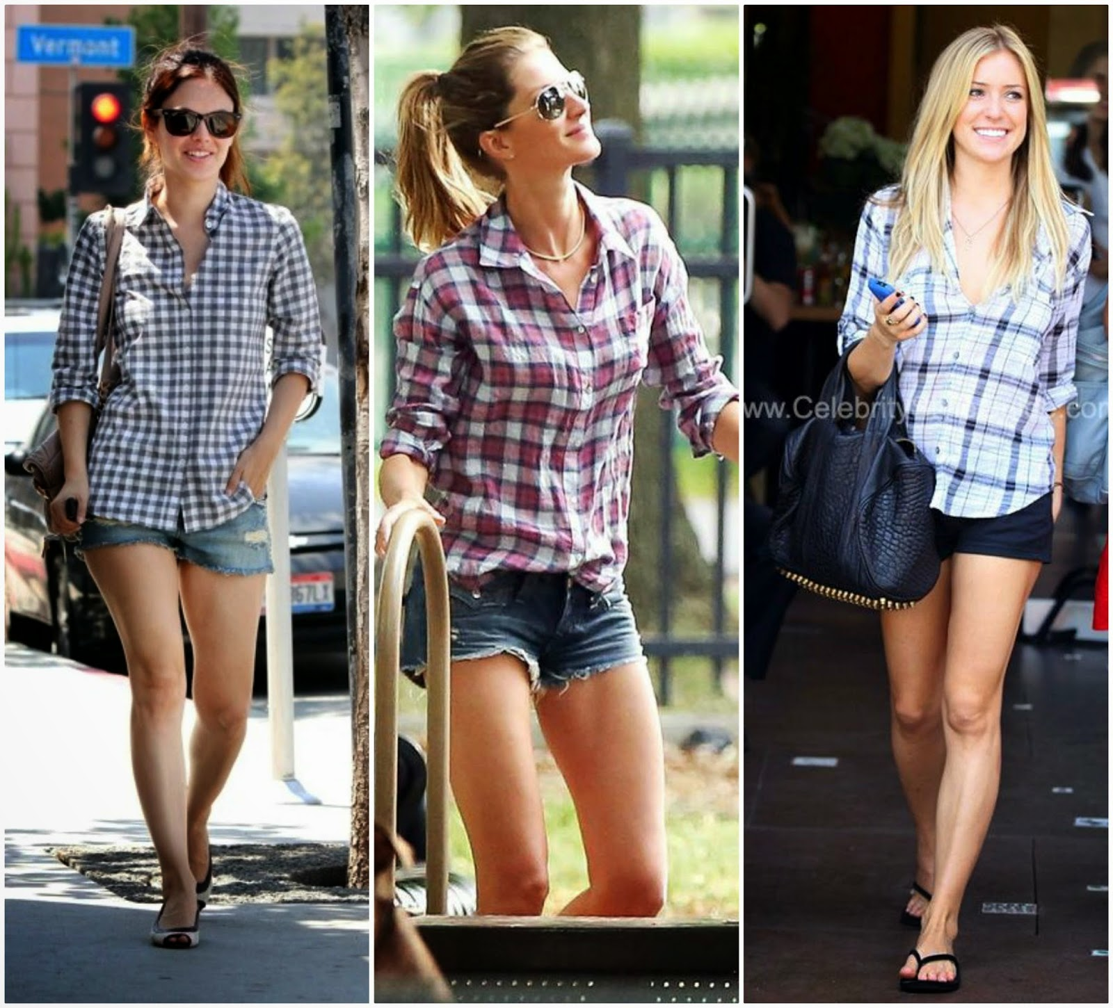 Celebrity Style, Plaid Shirts for summer