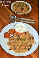 Mushroom Biryani Recipe | Easy Pressure Cooker Mushroom Biryani | Kaalan Biryani | Lunch Box Ideas / Quick lunch Ideas