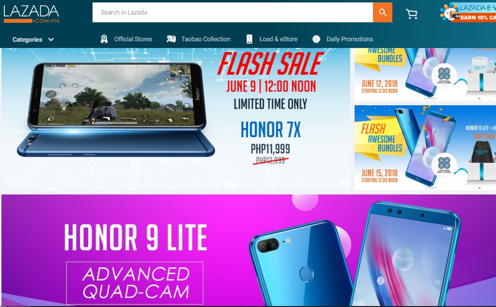 Honor Philippines Now On Lazada, Flash Sale Today on Honor 7X