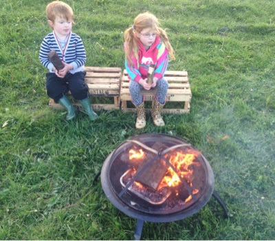 Top 10 Places to camp with your family in the North East & North Yorkshire - campfire at Druridge Bay
