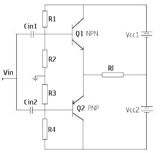 complementary symmetry amplifier circuit diagram
