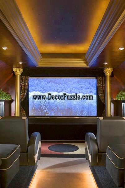 led ceiling lights for luxury cinema room ceiling lighting ideas