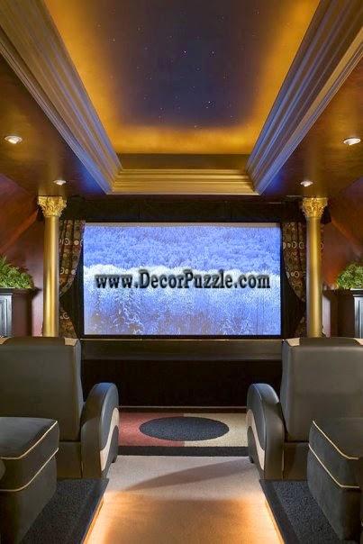 led ceiling lights for luxury cinema room ceiling lighting ideas