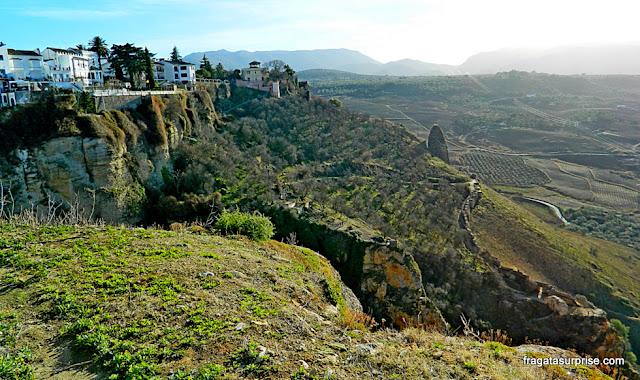 Trilha que leva à base do Desfiladeiro do Tajo, Ronda