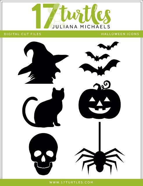 Halloween Icons Free Digital Cut File by Juliana Michaels 17turtles