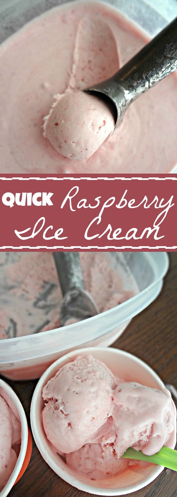 Quick Raspberry Ice Cream