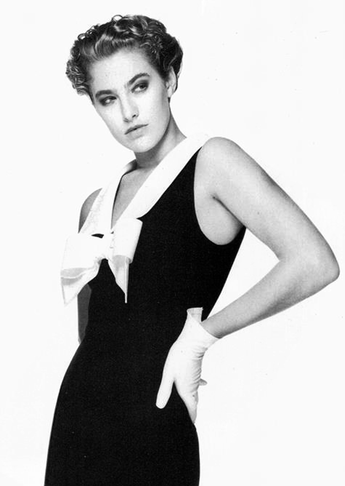 Mila Schon in Vogue Italia February 1988