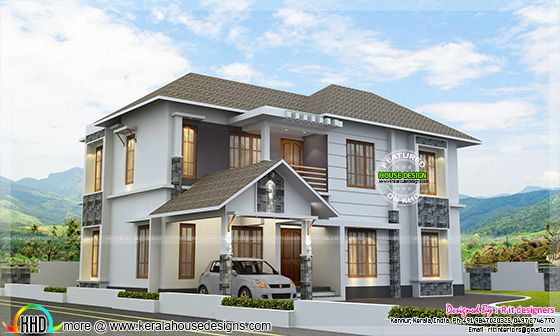 1753 square feet home plan